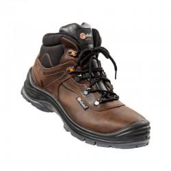 Chaussures haute en cuir marron hydrofuges