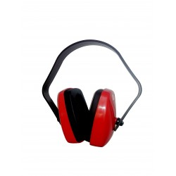 Casque anti-bruit léger, Coquilles rouge réglables sur l'arceau 29dB