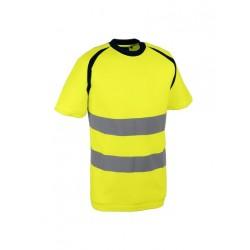T-shirt de signalisation - EPI haute visibilité travail orange pas cher