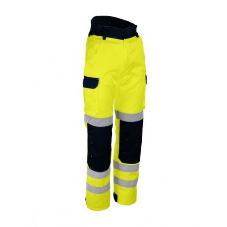 Pantalon de travail haute visibilité Orange fluo avec emplacement genouillere