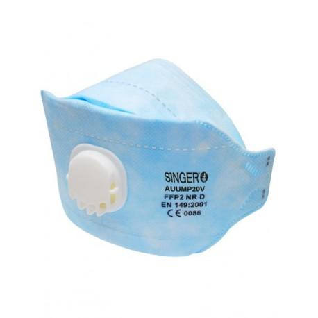 Demi-masque pliable confort pli horizontal 3 panneaux FFP2 NR D Boite de 20