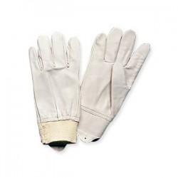 Gants cuir blanc type maîtrise