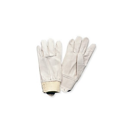 Gants cuir blanc type maîtrise pour le travail EPI manutention