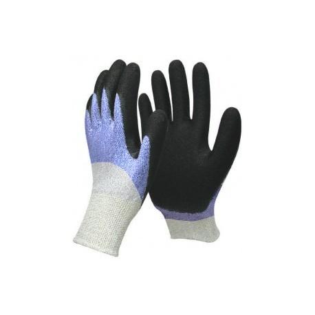 Gants anti-coupure enduit travail EPI en nitrile respirant avec aération
